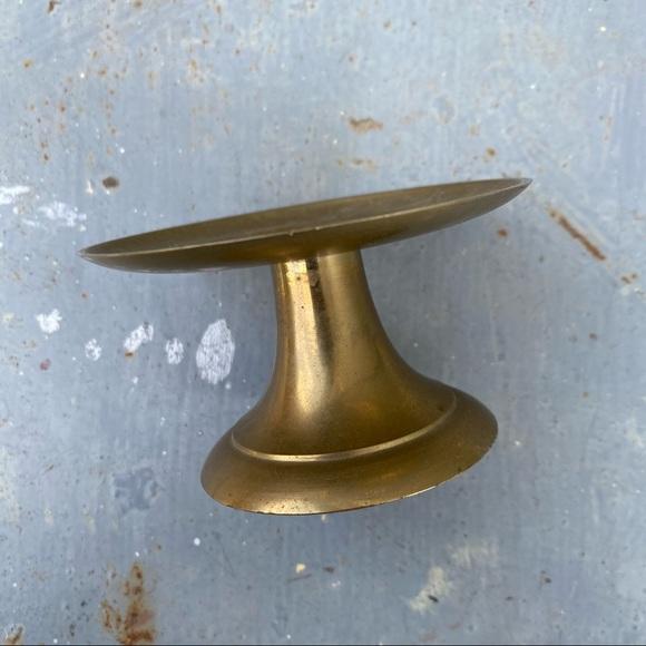 Vintage Brass MCM Candle Holder